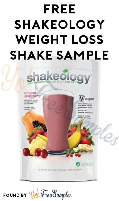 FREE Shakeology Weight Loss Shake Sample (Beachbody Coach Required)
