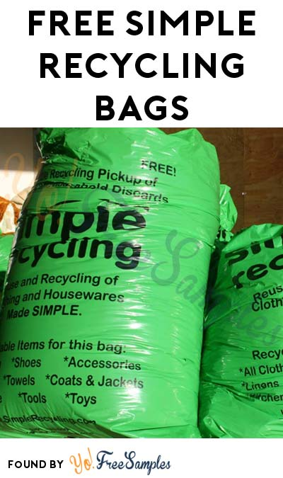 FREE Simple Recycling Bags (CT, IL, MA, MI, MN, OH & TX Only)