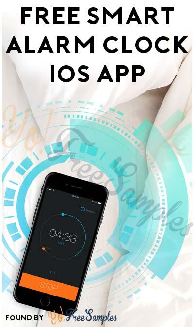 FREE Smart Alarm Clock iOS App (Normally $2.99)