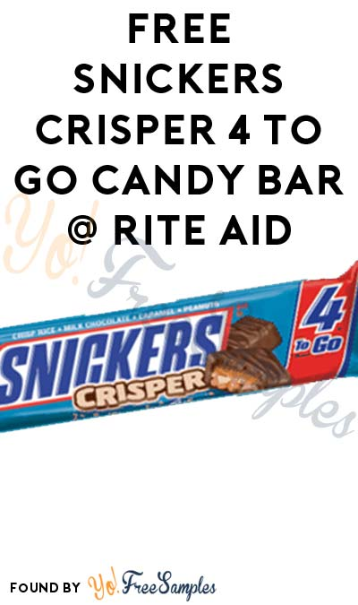 FREE Snickers Crisper 4 To Go Candy Bar At Rite Aid (Ibotta & Coupon Required)