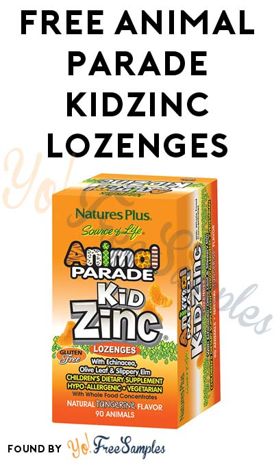 FREE Tangerine Animal Parade KidZinc Lozenges