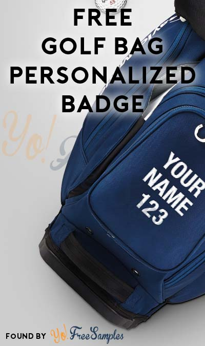 FREE TaylorMade Personalized Golf Bag Badge