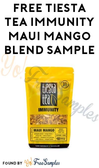 FREE Tiesta Tea Maui Mango Sample (CO Only)