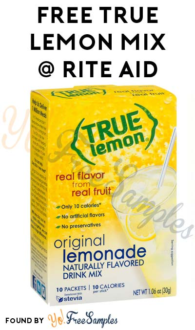 FREE True Lemon Drink Mix At Rite Aid (Coupon Required)