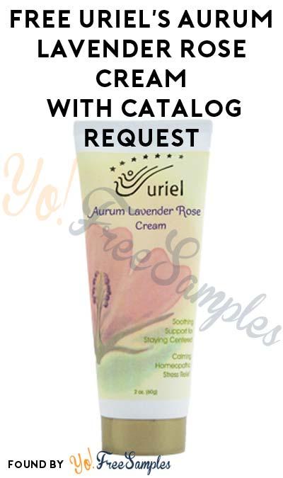 FREE Uriel's Aurum Lavender Rose Stress Relief Cream With Catalog Request