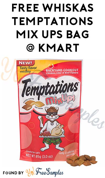 TODAY ONLY: FREE Whiskas Temptations Mix Ups 3oz Bag At Kmart