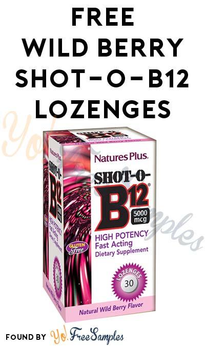 FREE Wild Berry Shot-O-B12 Lozenges
