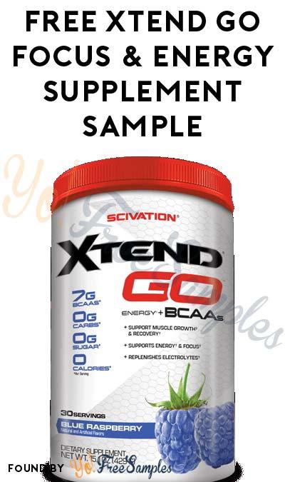 FREE XTend Go Focus & Energy Supplement Sample