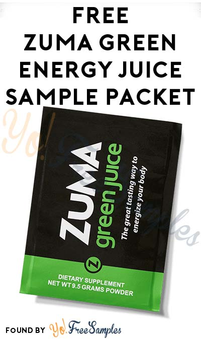 FREE Zuma Green Energy Juice Sample Packet