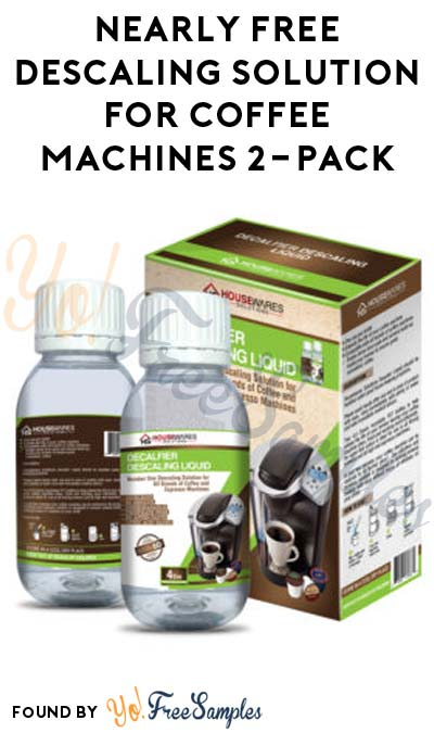Nearly FREE Descaling Solution For Coffee Machines 2-Pack ($0.10 With No-Rush Shipping & Amazon Prime)