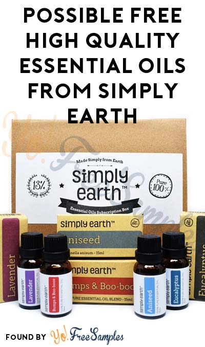 Possible FREE High Quality Essential Oils From Simply Earth Ambassador Program (Applying Required)