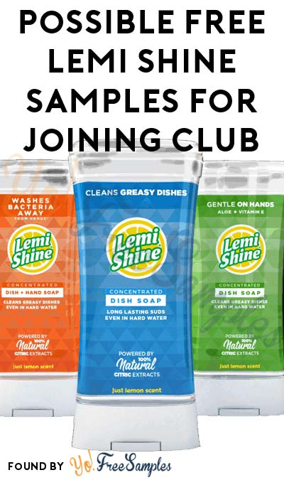 FREE Lemi Shine Product Samples For Joining Club Clean Freak