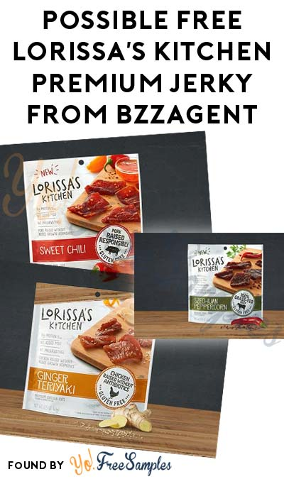 Possible FREE Lorissa's Kitchen Premium Jerky From BzzAgent