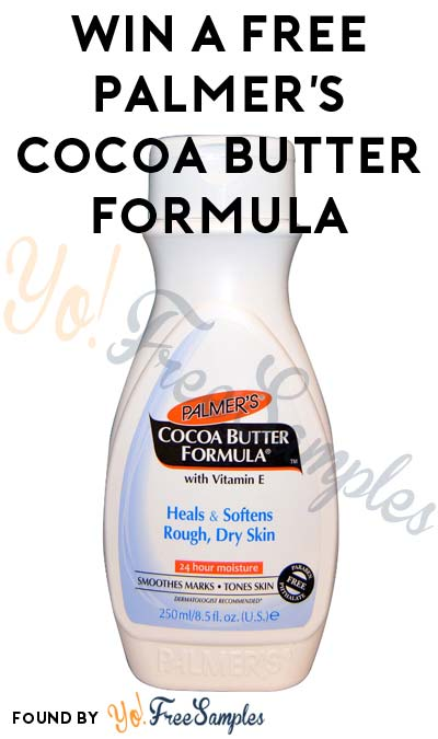 Win A FREE Palmer's Cocoa Butter Formula Bottle