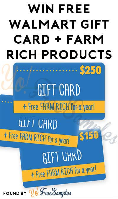 LIVE AT 1PM EST: Win A FREE Walmart Gift Card & Farm Rich Products For A Year (Mobile Number Required)