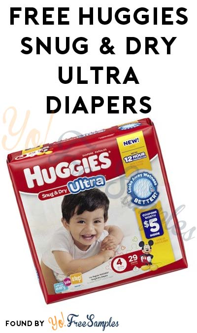 FREE Huggies Snug & Dry Ultra Diapers & More (Apply To HouseParty.com)