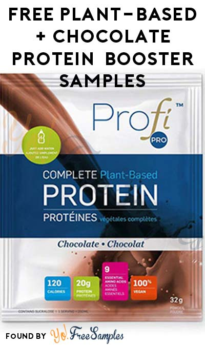 CANADA ONLY: FREE Plant-Based PROFI Pro Original Protein Booster & PROFI Pro Chocolate Sample