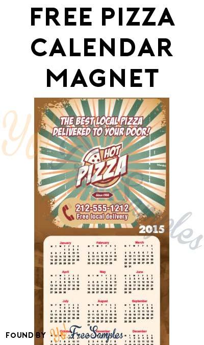 FREE Pizza Calendar Magnet & Other Magnet Samples