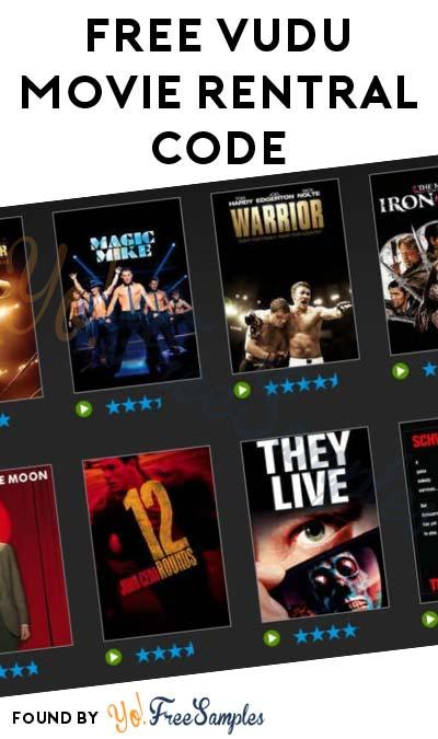 FREE VUDU Movie Rental Code