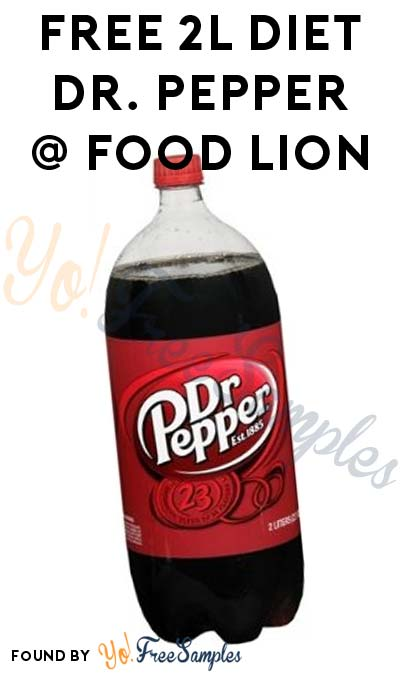 FREE 2L Diet Dr. Pepper Coupon (Food Lion MVP Members)