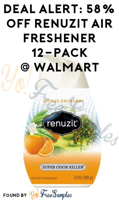 DEAL ALERT: 58% OFF Renuzit Adjustables Air Freshener 12-Pack At Walmart
