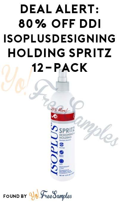 DEAL ALERT: 80% OFF Ddi Isoplusdesigning Holding Spritz 12-Pack At Walmart
