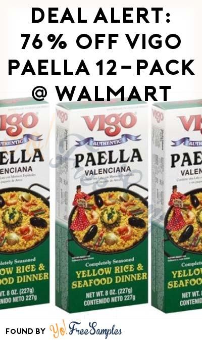 DEAL ALERT: 76% OFF Vigo Paella Yellow Rice & Seafood Mix 12-Pack At Walmart
