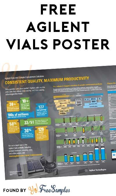 FREE Agilent Vials Poster