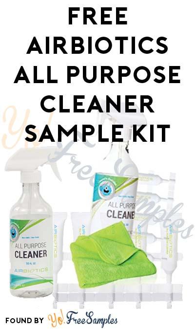 FREE Airbiotics All Purpose Cleaner Sample Kit
