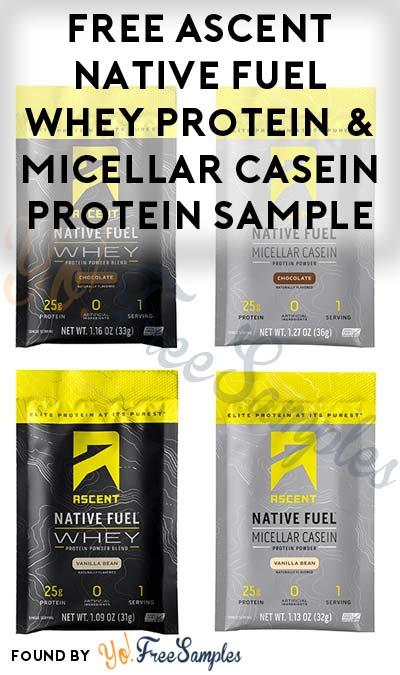 FREE Ascent Native Fuel Whey Protein & Micellar Casein Protein Sample