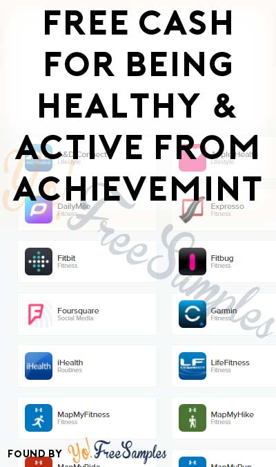 FREE Cash For Being Healthy & Active From AchieveMint