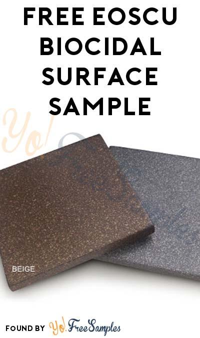 FREE EOScu Biocidal Surface Sample