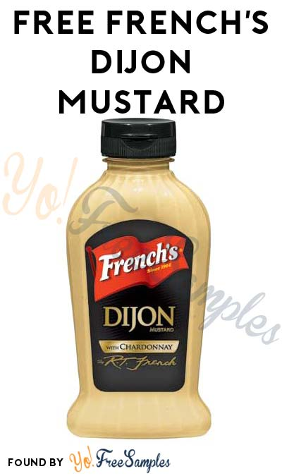 FREE French's Dijon Mustard From CrowdTap For Completing Mission