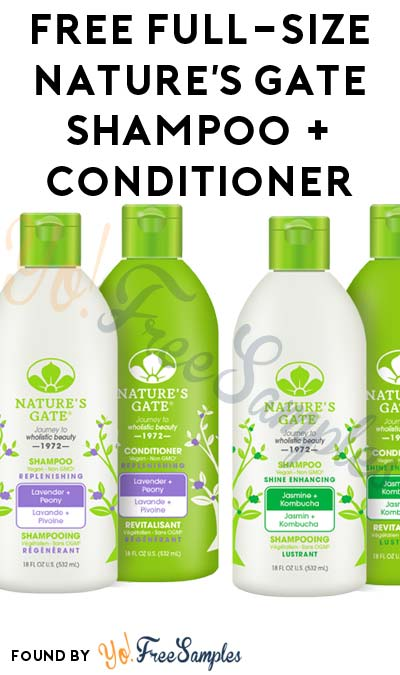 FREE Full-Size Nature's Gate Professional Hair Care Shampoo + Conditioner (Facebook Message & Review Required)