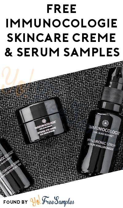 FREE Immunocologie Skincare Creme & Serum Samples (Email Confirmation Required)