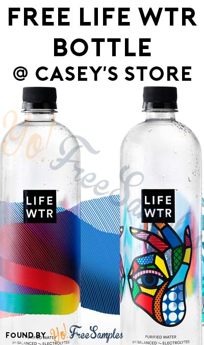 FREE Life Wtr Bottle From Casey's Store For Downloading Mobile App (Select Areas)