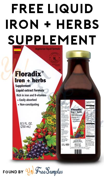 FREE Liquid Iron + Herbs Supplement At Social Nature (Survey Required) [Verified Received By Mail]