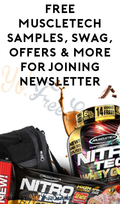 FREE MuscleTech Product Samples, Swag, Offers & More For Joining Newsletter