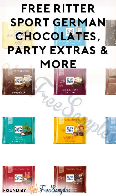 FREE Ritter Sport German Chocolates, Party Extras & More (Must Apply To Host Tryazon Party)