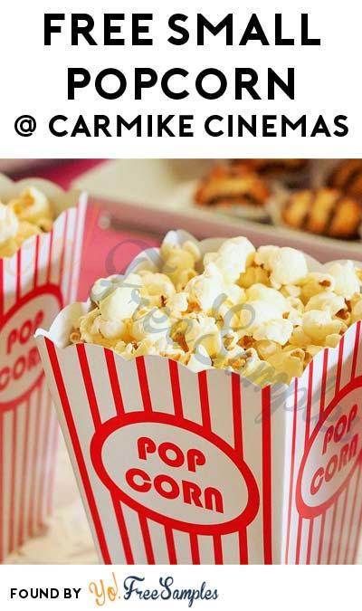FREE Small Popcorn At Carmike Cinemas