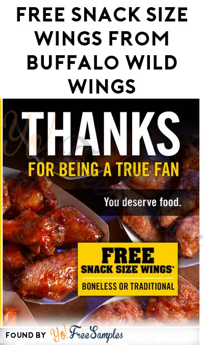 FREE Snack Size Wings From Buffalo Wild Wings For Joining Rewards Program
