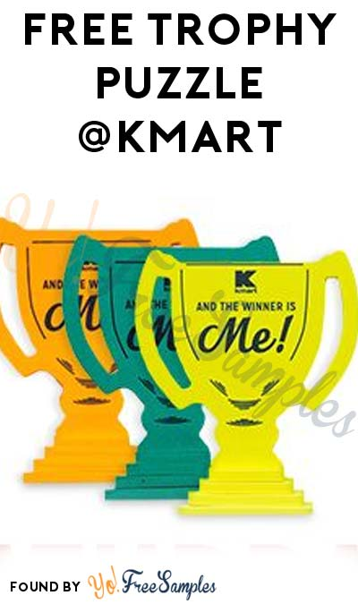 FREE Trophy Puzzle At Kmart's Freebie Saturday Event