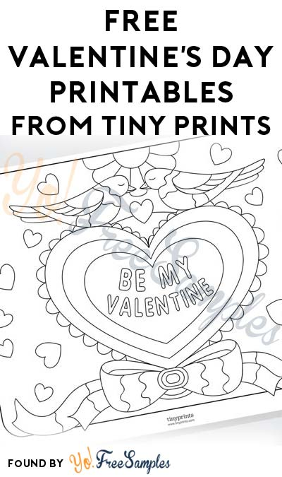 FREE Valentine's Day Printables From Tiny Prints