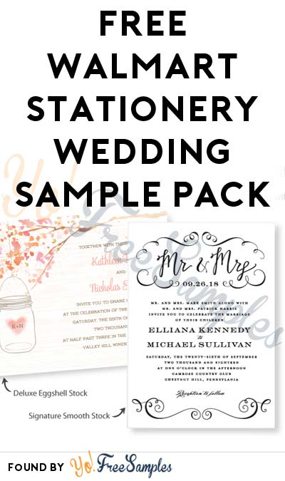 Free Walmart Stationery Wedding Sample Pack Verified Received By