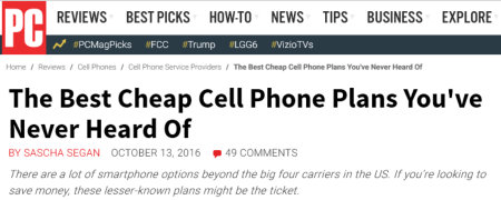 cheap cell phone plans - PC Magazine