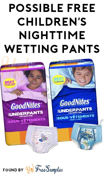 Possible FREE Children's Nighttime Wetting Pants From Home Tester Club (Survey Required)
