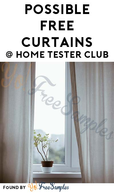 Possible FREE Curtains From Home Tester Club (Survey Required)