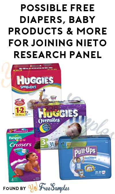 Possible FREE Diapers, Baby Products, Feminine Items & More For Joining Nieto Research Product Testing Panel