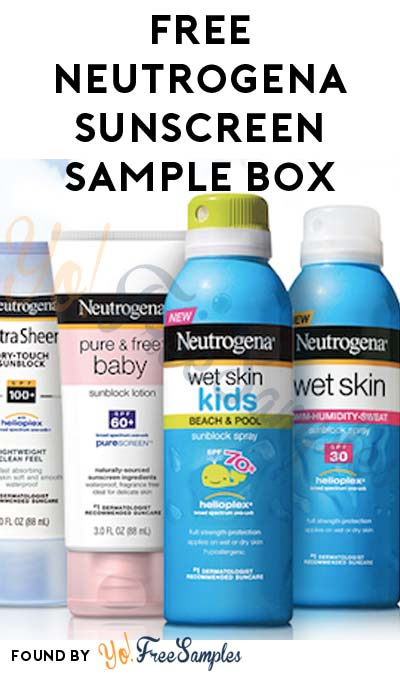Possible FREE Neutrogena Sunscreen Sample Box From Home Tester Club (Survey Required)