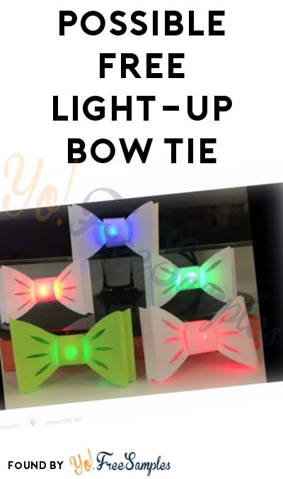 Possible FREE TechnoChic Light-Up Bow Tie For Willing Testers With Kids Ages 8-12